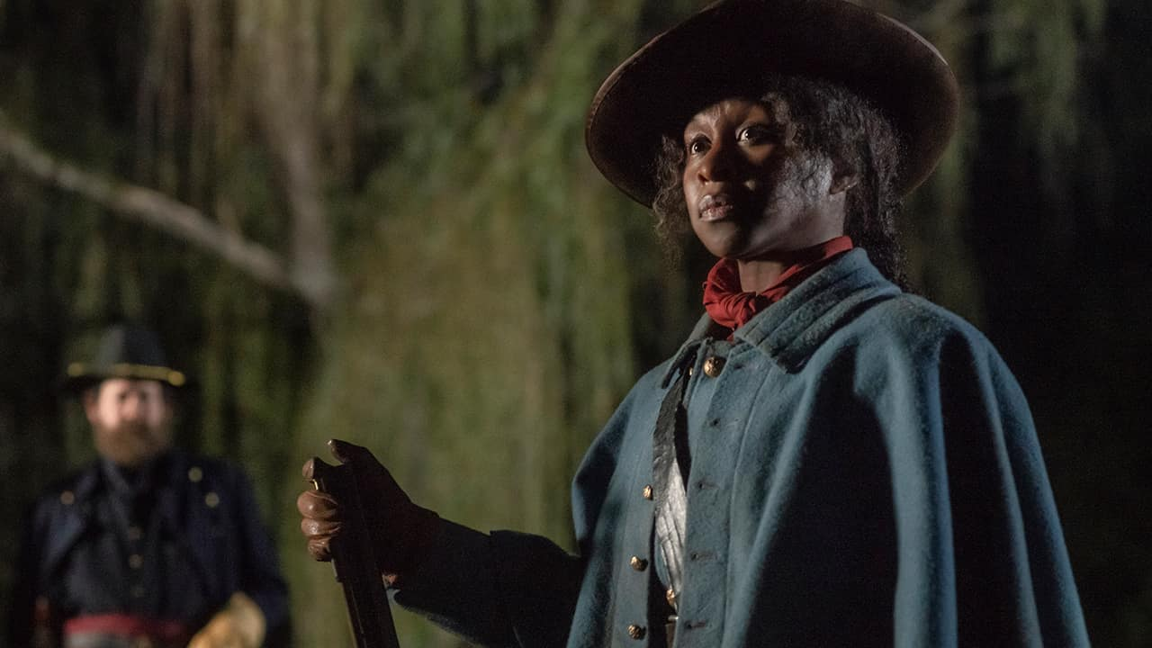 """Photo of Cynthia Erivo as Harriet Tubman in a scene from """"Harriet."""""""