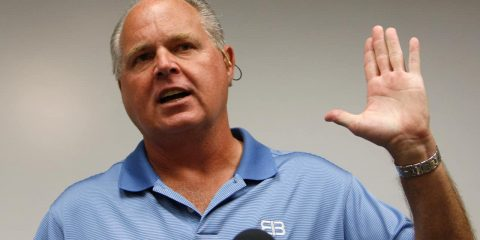 Photo of conservative talk show host Rush Limbaugh