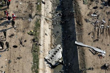 Photo of the scene where a Ukrainian plane crashed in Shahedshahr, southwest of Tehran, Iran