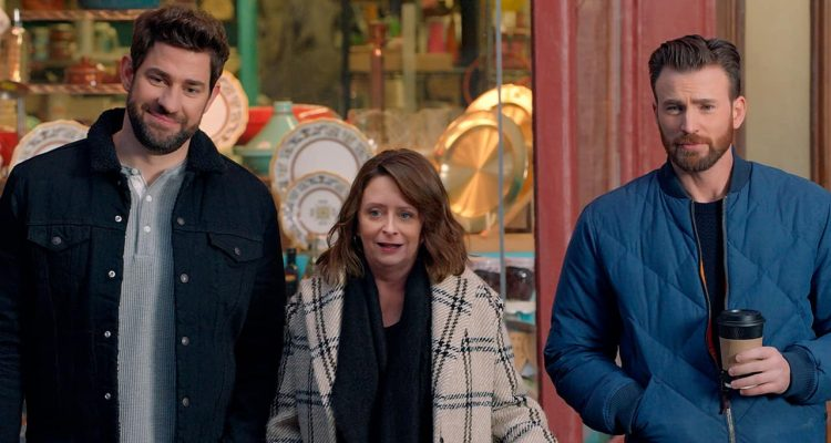 Photo of John Krasinski, Rachel Dratch and Chris Evans