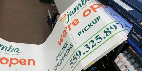 Photo of a free banner from Professional Print and Mail in Fresno, California