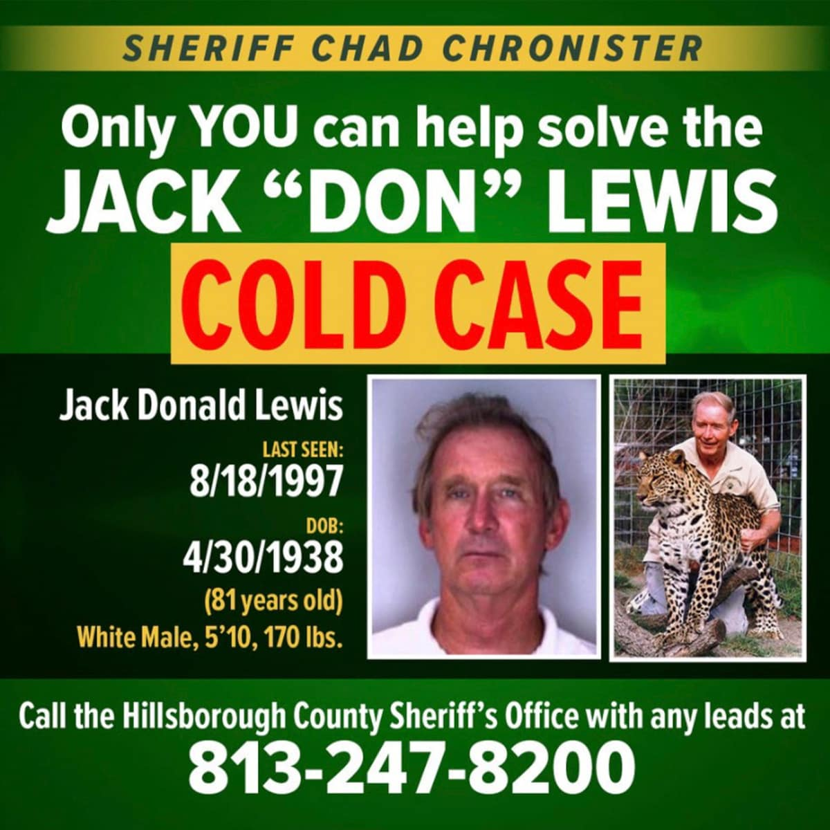 Photo of Don Lewis information graphic