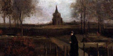 "Photo of Vincent Van Gogh's ""The Parsonage Garden at Nuenen in Spring 1884"""