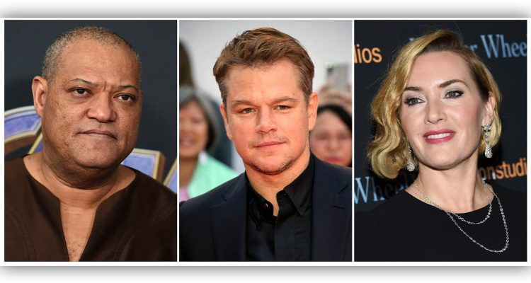 Photo of Laurence Fishburne, Matt Damon and Kate Winslet