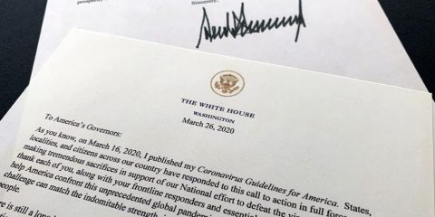 Photo of a letter from President Donald Trump