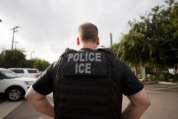 Photo of an ICE officer