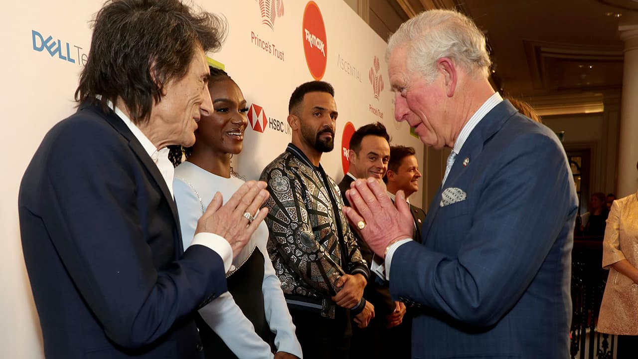 Photo of Prince Charles and Ronnie Wood