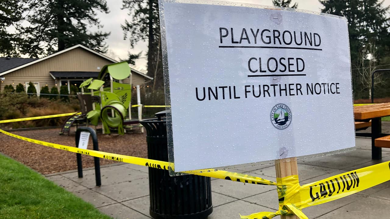 """Photo of a """"Playground Closed"""" sign"""