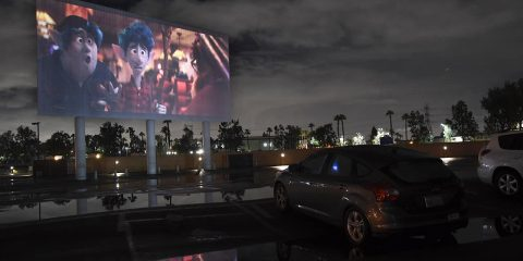 Photo of cars at a drive-in