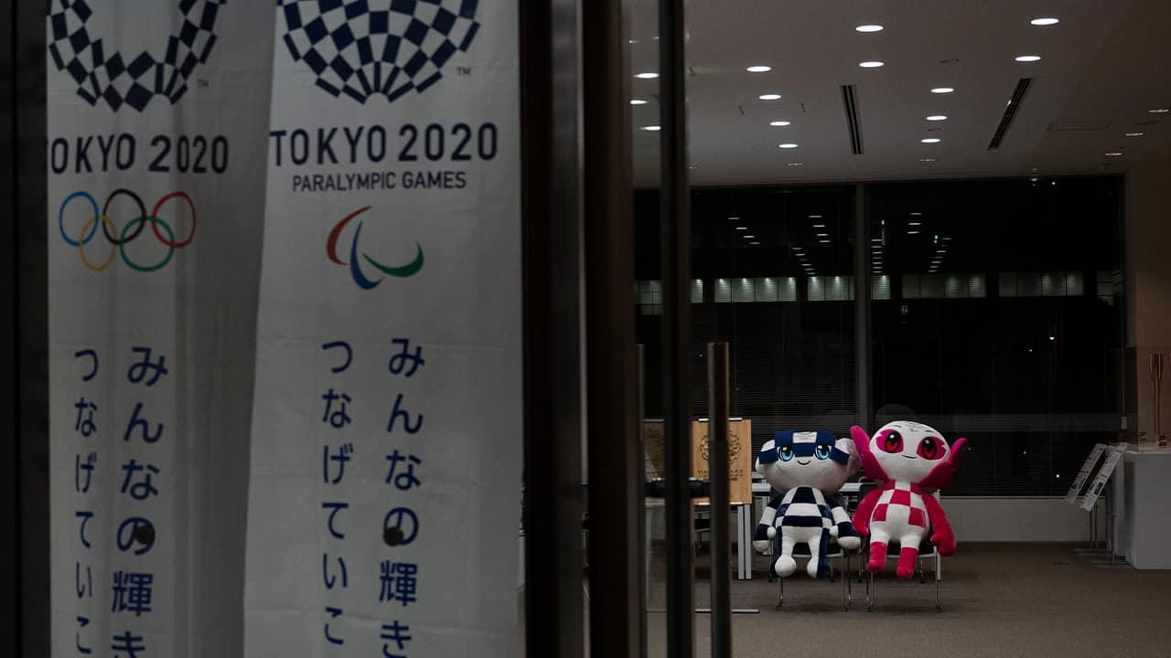Photo of Miraitowa and Someity, mascots for the Tokyo 2020 Olympics