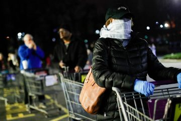Photo of customers lining up to shop in New Jersey