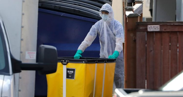 Photo of a cleaning crew member in Washington