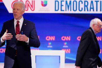 Photo of Joe Biden and Bernie Sanders