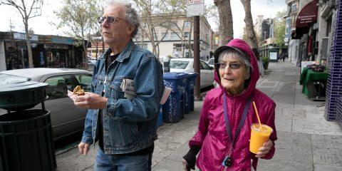 Photo of Dolores Helman, 93, and her son Elliot Helman
