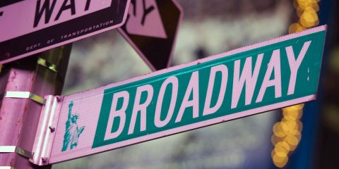 Photo of a Broadway street sign