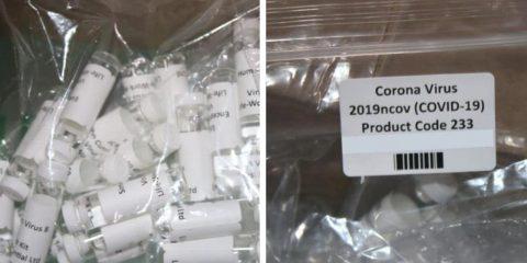 Photo of fake coronavirus testing kits