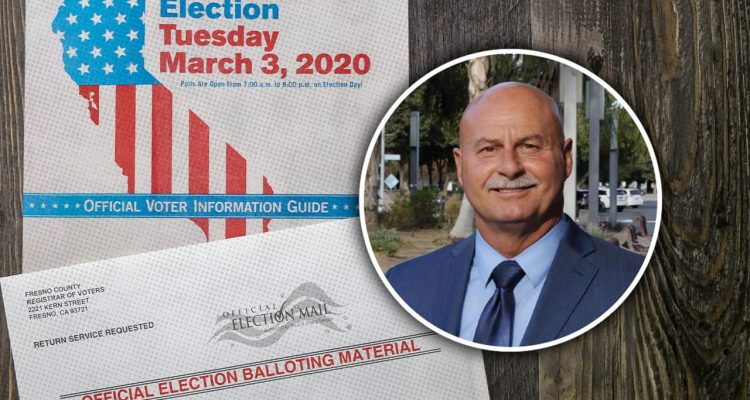Photo combination of voting material and Jerry Dyer
