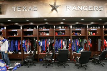 Photo of the Texas Rangers locker room