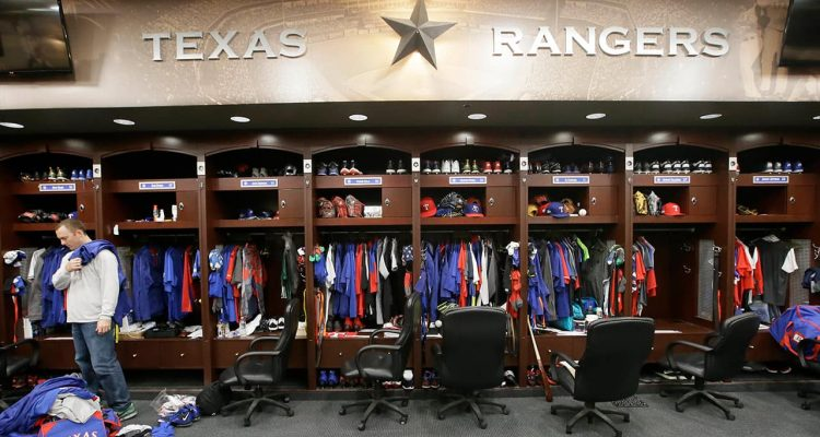 Photo of the Texas Rangers locker room