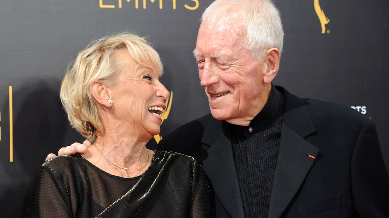 Photo of Max von Sydow and his wife Catherine Brelet