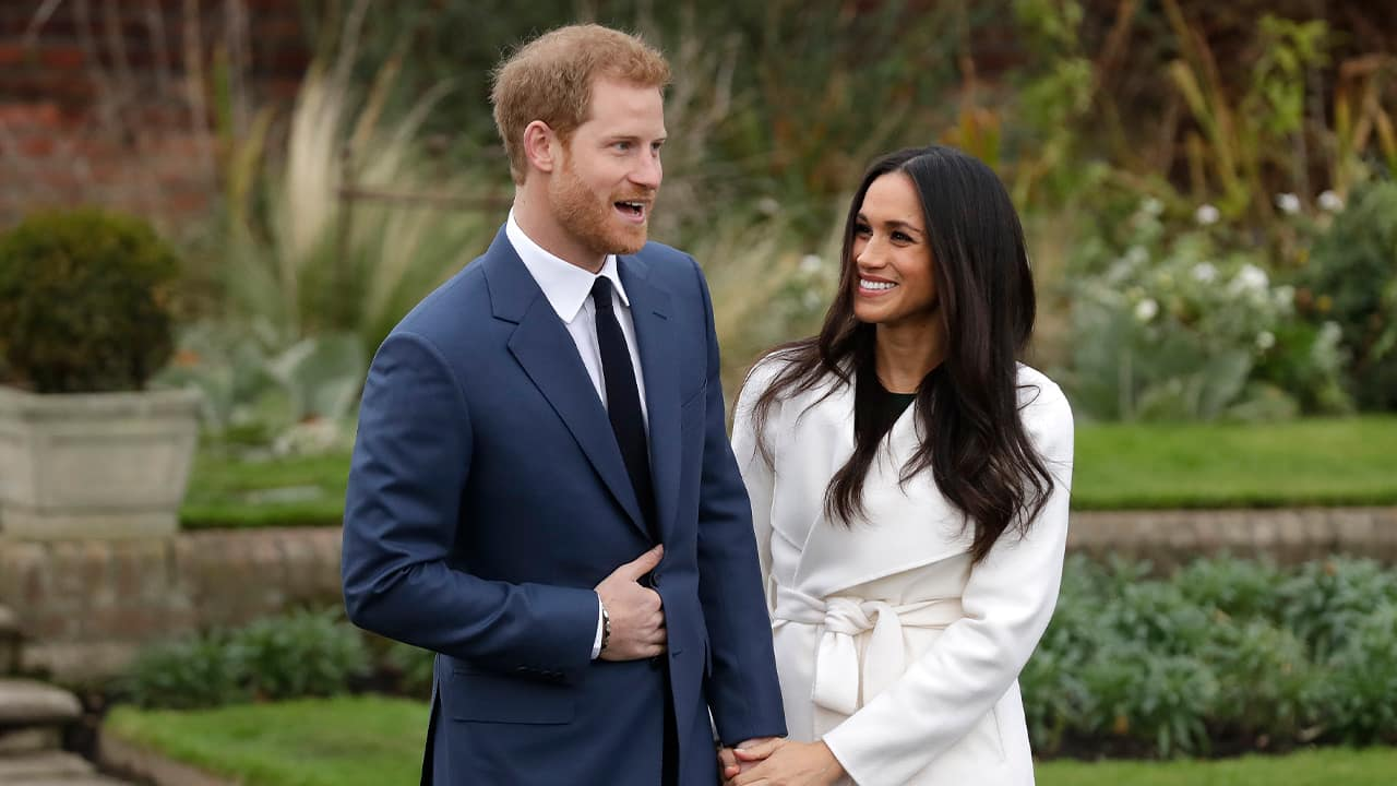 Photo of Britain's Prince Harry and Meghan Markle