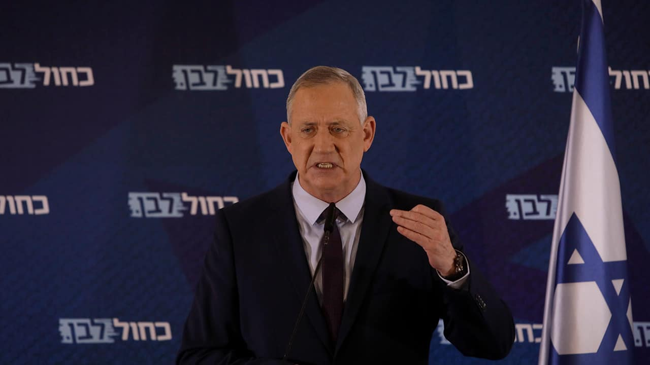 Photo of Blue and White party leader Benny Gantz