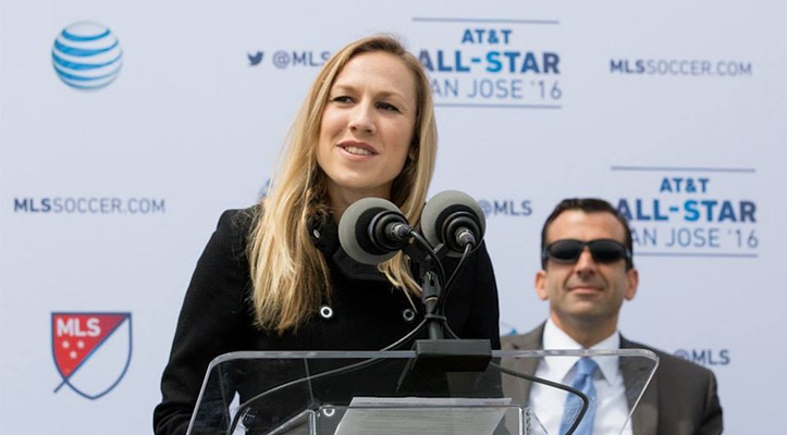 Portrait of sports broadcaster Kate Scott