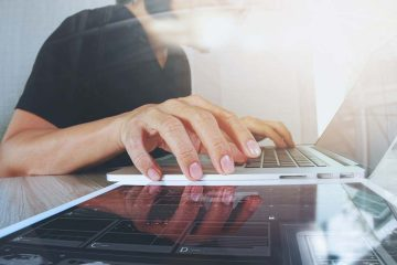 Photo of a woman using a laptop