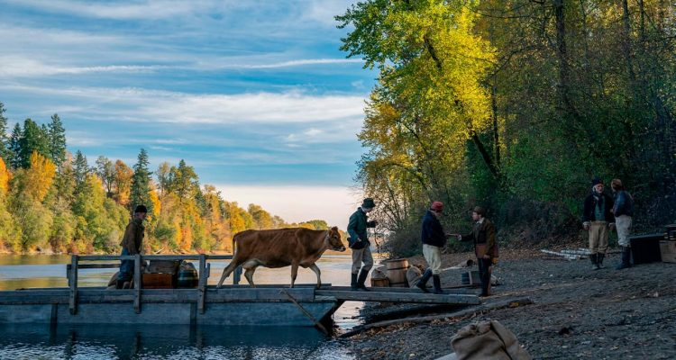 "Photo of a scene from ""First Cow."""