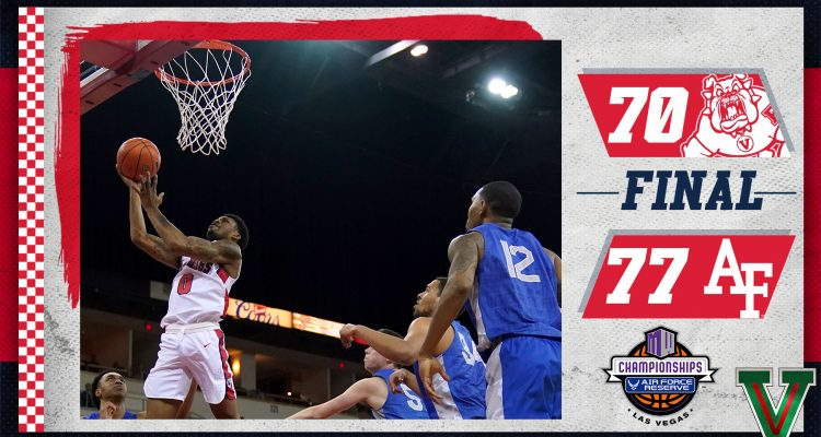 Image showing Air Force-Fresno State score from 2020 MW men's basketball tournament