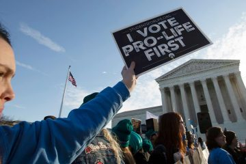 Photo of anti-abortion demonstrators