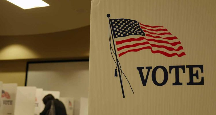 Photo of a voting booth