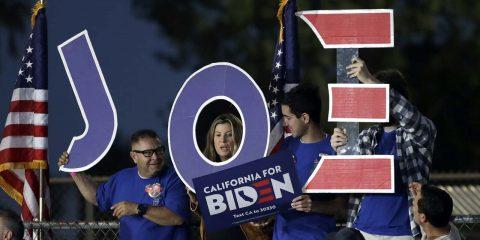 Photo of Joe Biden supporters