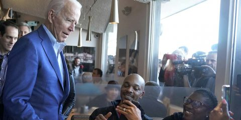 Photo of Joe Biden in Oakland