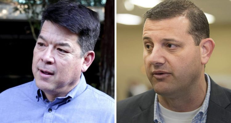 Photo combination of TJ Cox and David Valadao