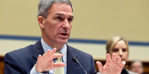Photo of Ken Cuccinelli, acting director for the U.S. Citizenship and Immigration Services, U.S. Department of Homeland Security