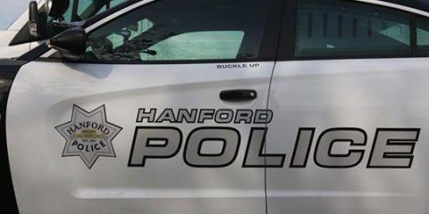 Image of a Hanford, California police cruiser