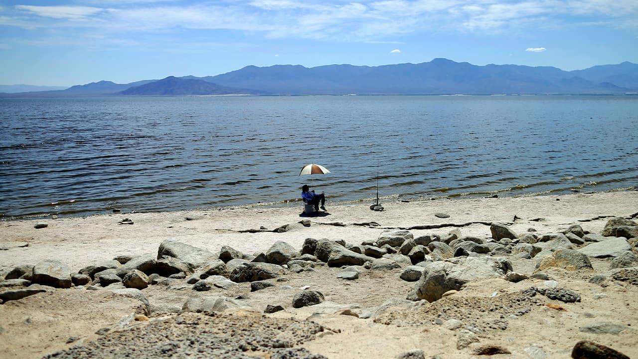 Photo of the the Salton Sea near Bombay Beach, Calif.