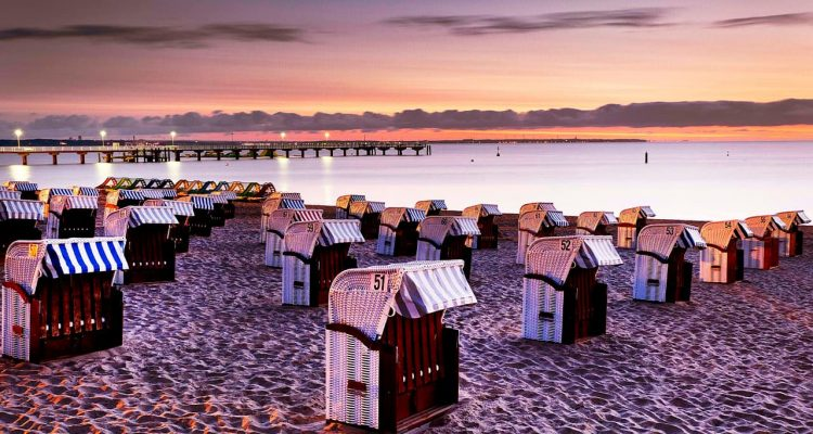 Photo of the Timmendorfer Strand at the Baltic Sea, northern Germany