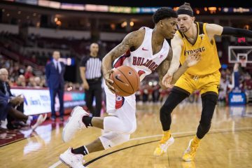 Photo of Fresno State guard New Williams against Wyoming