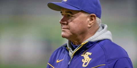 Photo of LSU baseball head coach Paul Mainieri