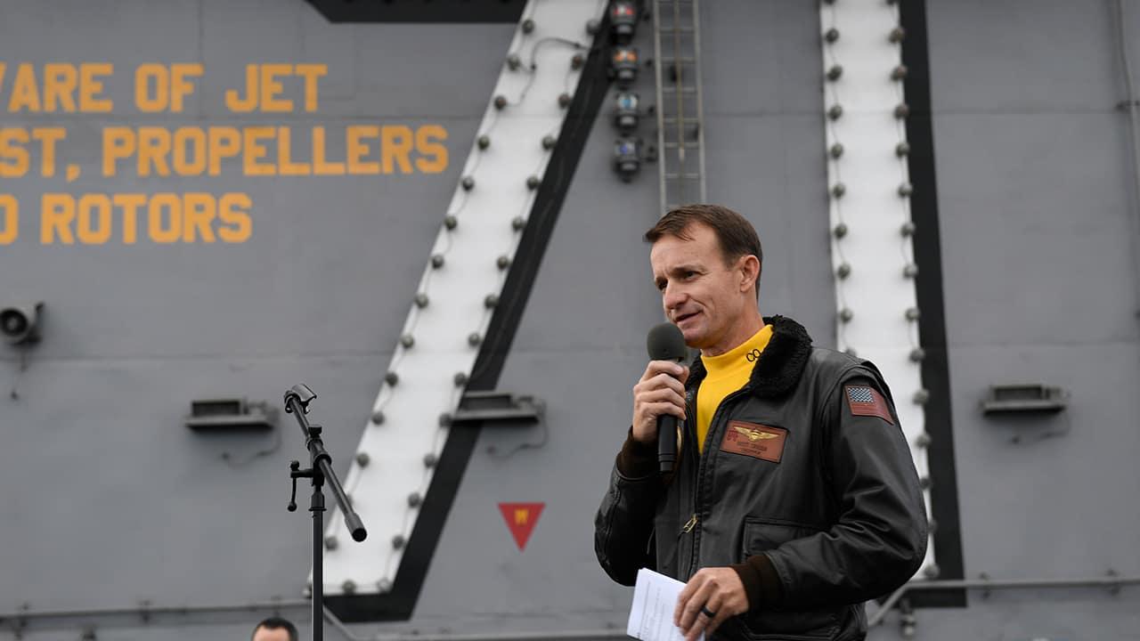 Photo of U.S. Navy Capt. Brett Crozier