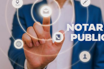 Concept illustration of online notarization