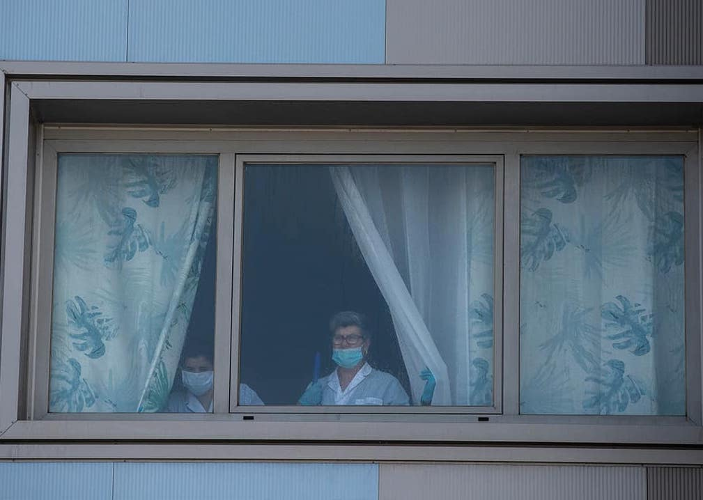 Photo of a nursing home window in Spain