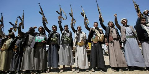 Photo of Houthi tribesmen