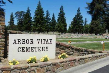 Photo of the Arbor Vitae Cemetery in Madera, Calif.