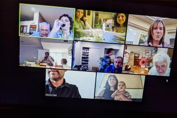 Photo of a Zoom video call