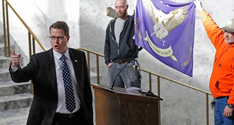 Photo of Washington state Rep. Matt Shea, R-Spokane Valley