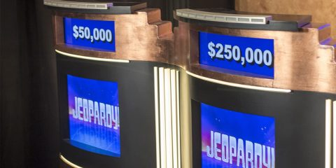 Photo of Jeopardy set