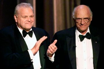 Photo of Brian Dennehy and Arthur Miller